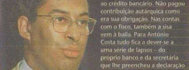 Costa acusado de falhar contribuições autárquicas