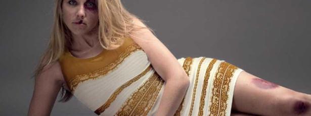 Vestido usado em campanha contra violência doméstica