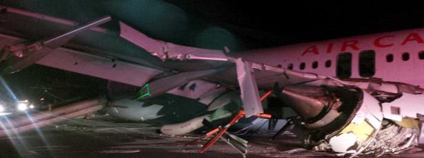 Aterragem conturbada causa 23 feridos num voo da Air Canada