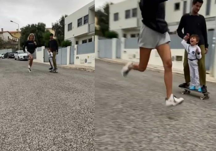 Bibá Pitta mostra vídeos divertidos com neto e filho.