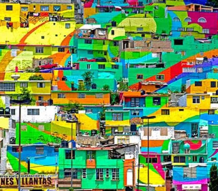 Cor dá nova imagem e nova vida a bairro mexicano