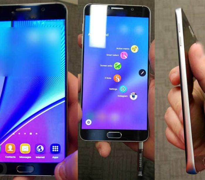 Revelada primeira imagem do Galaxy Note 5
