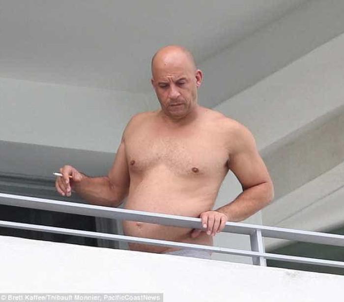 Vin Diesel mostra lado (muito) pouco atlético