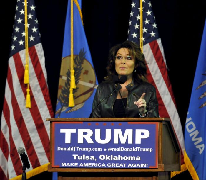 Sarah Palin apoia Donald Trump na corrida presidencial dos EUA