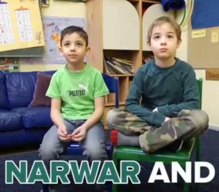 A adorável amizade entre um menino alemão e um refugiado sírio