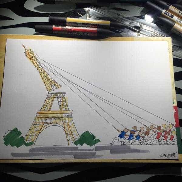 Os sentimentos dos parisienses vistos por todo o mundo