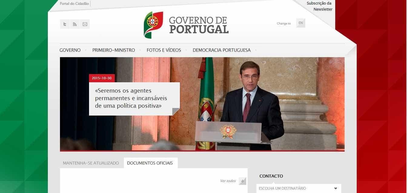 Enquanto não há Governo, não há página