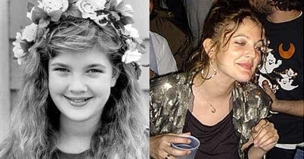 Famosos antes e depois das drogas