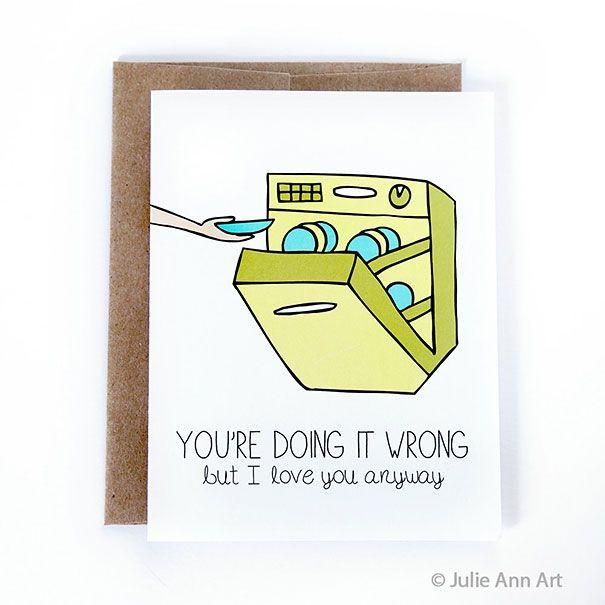 Cartões do Dia dos Namorados para casais com humor