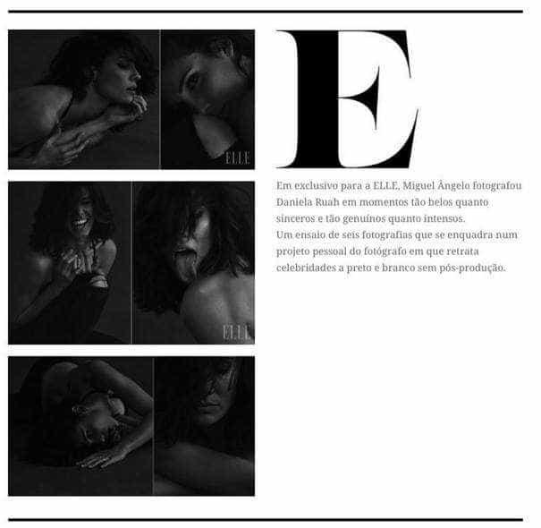 Daniela Ruah excêntrica em produção fotográfica
