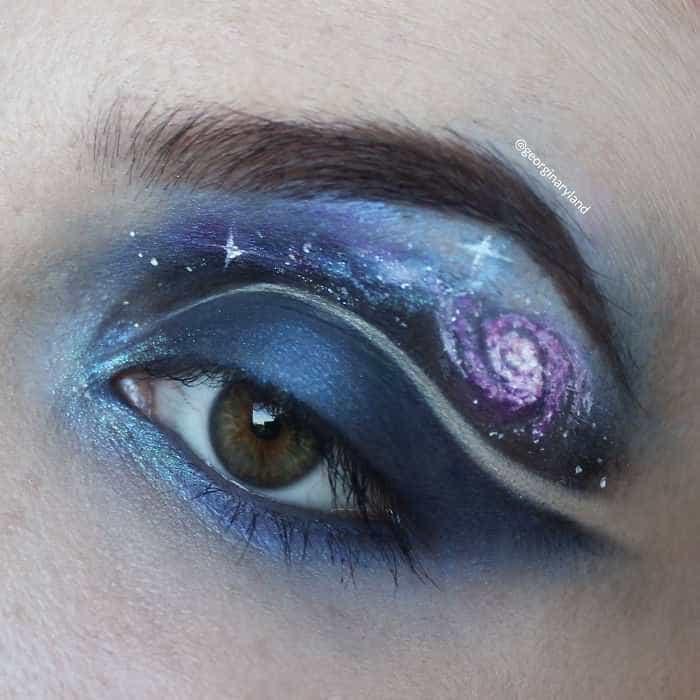 Quando a pintura dos olhos se transforma em arte
