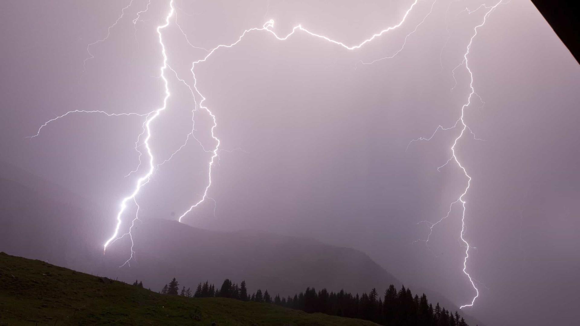Aviso de chuva e trovoada no norte e perigo de incêndio no centro e sul