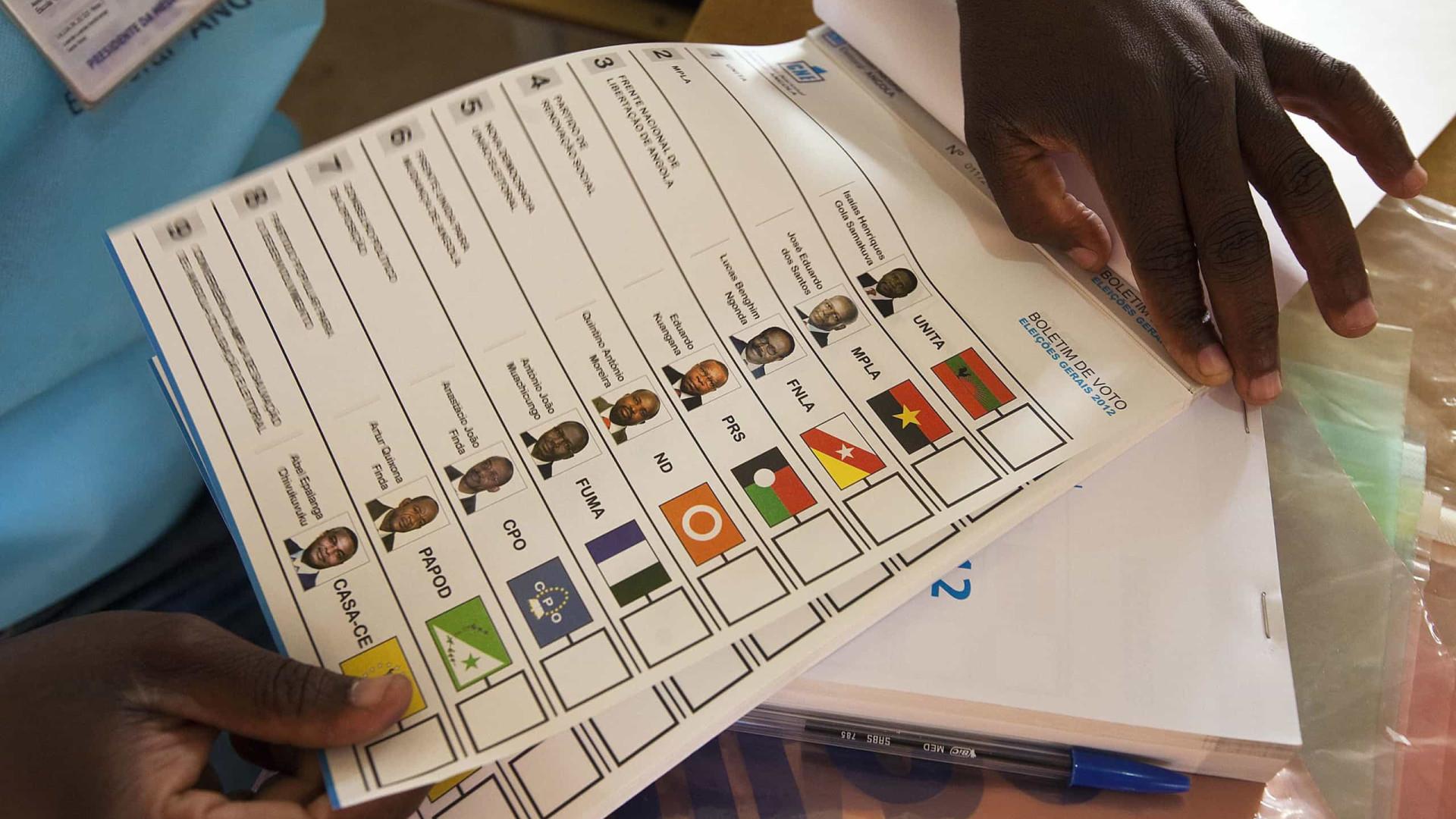 Partidos ainda não designaram delegados de lista para eleições angolanas