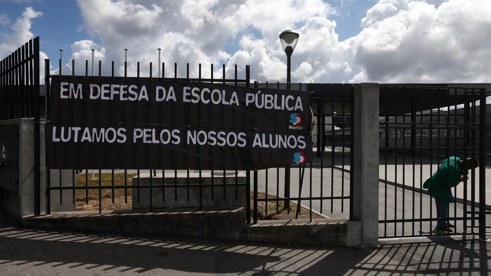 Pais junto a portões de escolas ansiosos sem saber se filhos têm aulas