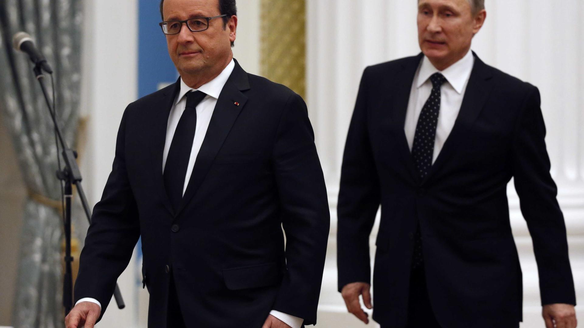 Líderes de França, Alemanha e Rússia em encontro sobre a Síria