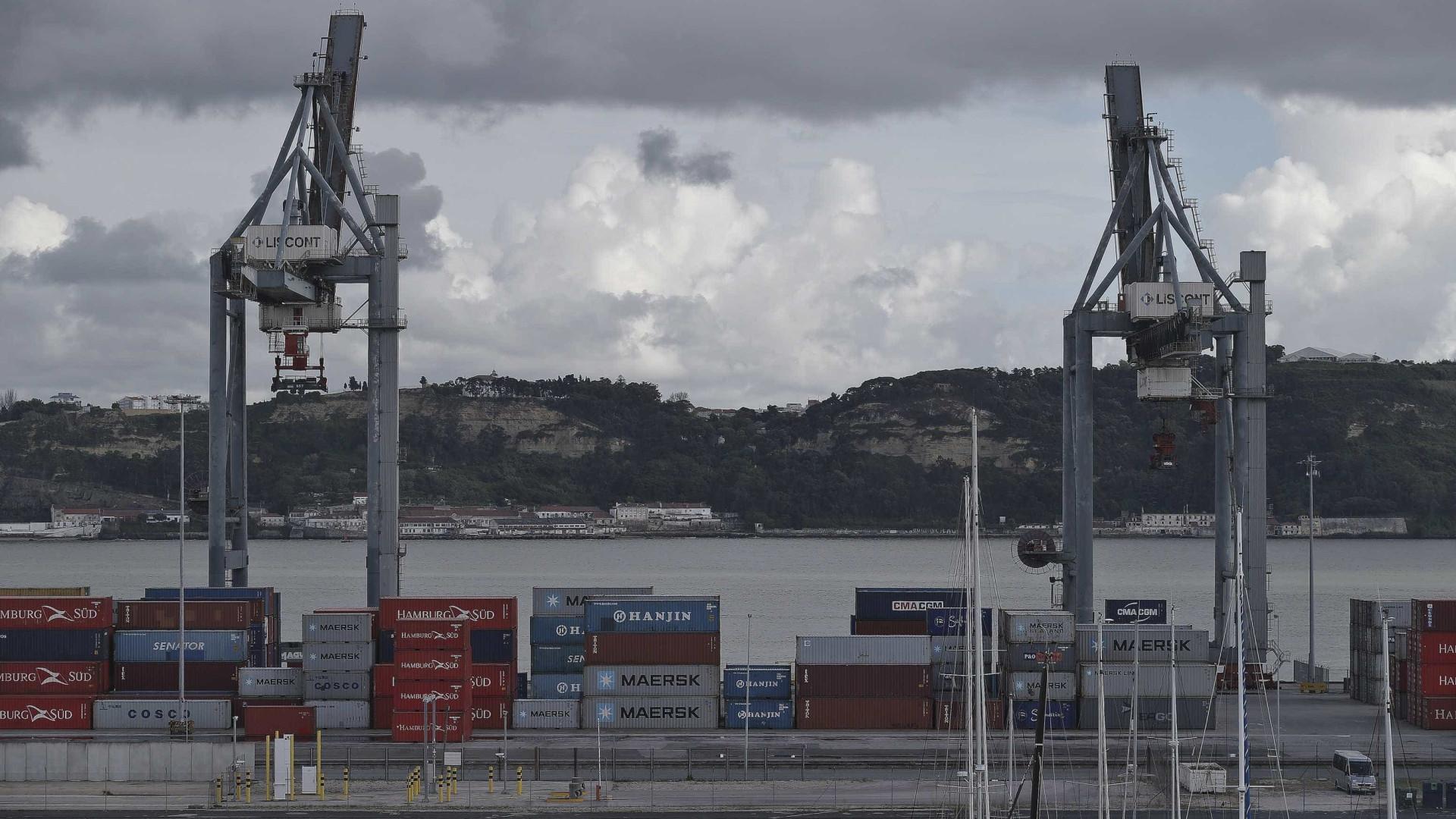 Quase 9 milhões de toneladas nos portos do continente em agosto