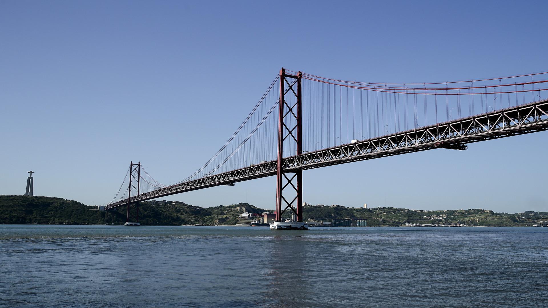 Ponte 25 de Abril com trabalhos de manutenção de 18 millhões de euros
