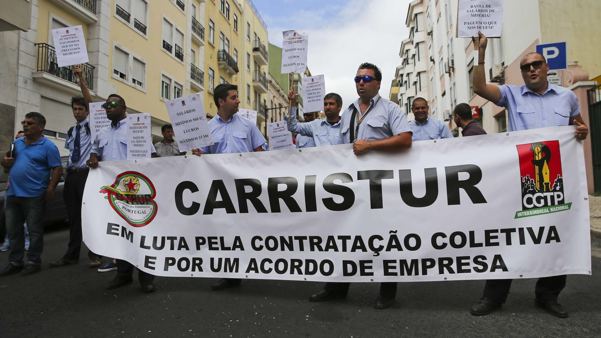 Trabalhadores da Carristur em greve no Natal e Ano Novo devido a salários