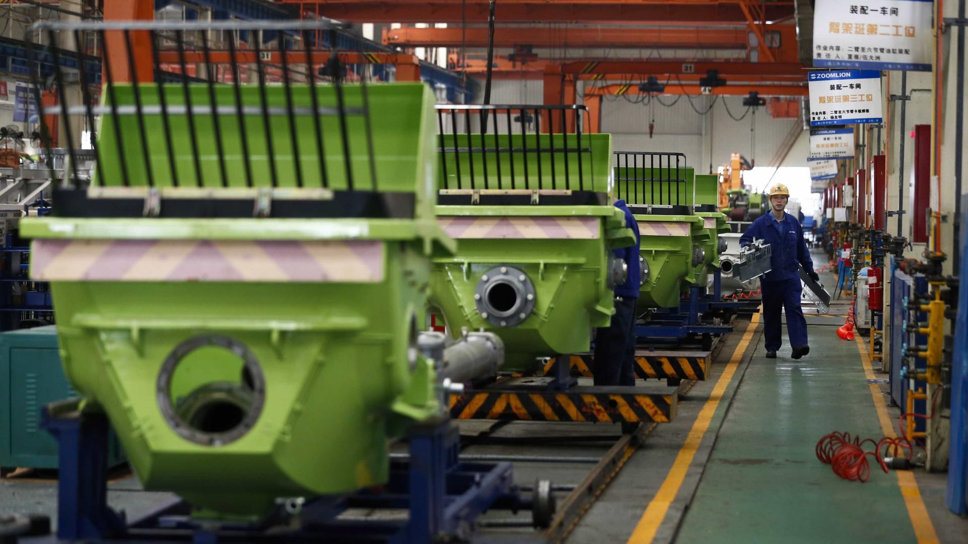 Atividade industrial da China atingiu nível mais alto em dois anos