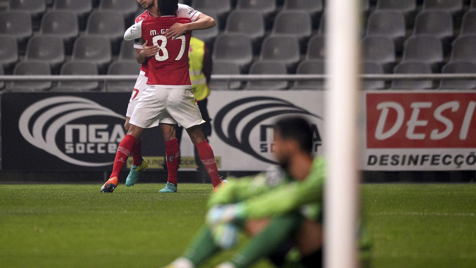 Festival de golos deixa Sp. Braga no terceiro lugar do campeonato