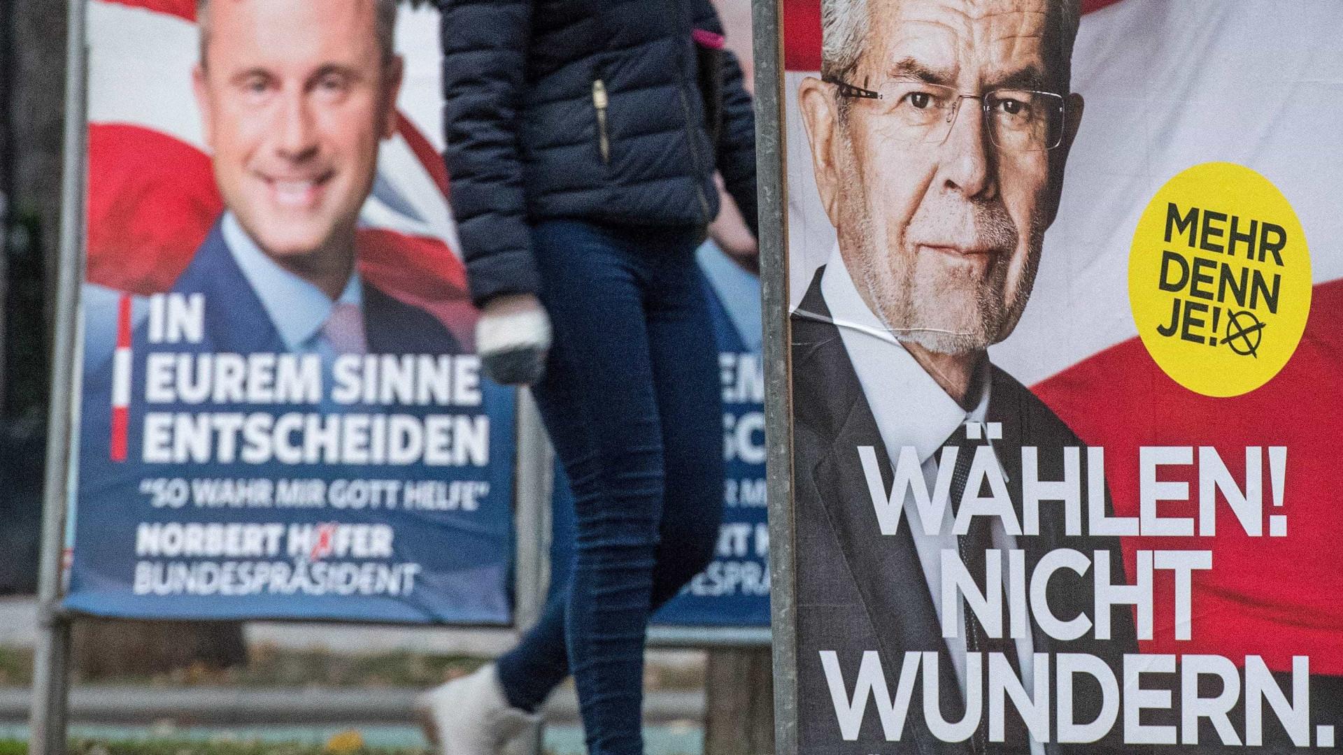"""""""Finalíssima"""" das presidenciais austríacas pode afetar futuro da Europa"""