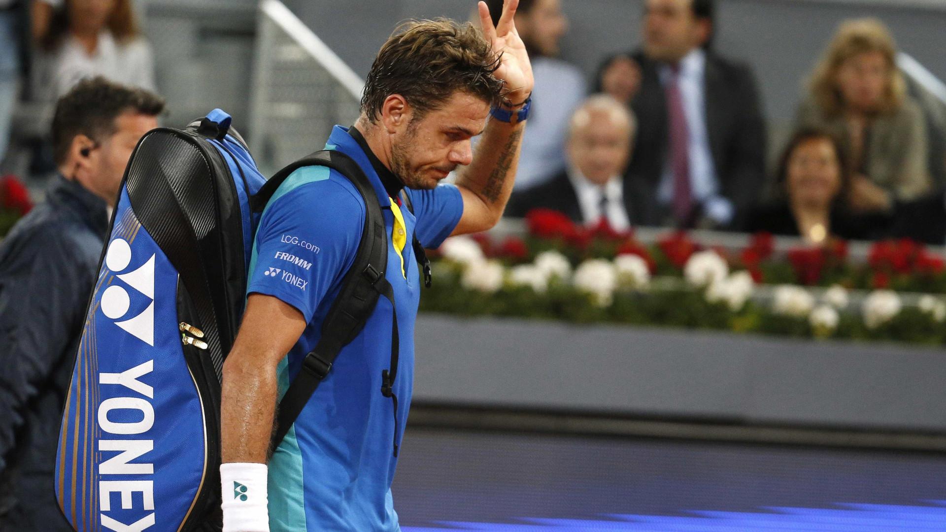 Stanislas Wawrinka afastado nos 'oitavos' do Masters 1000 de Roma