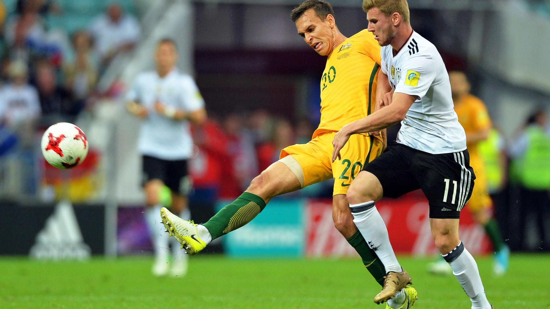 Campeã mundial Alemanha venceu Austrália por 3-2