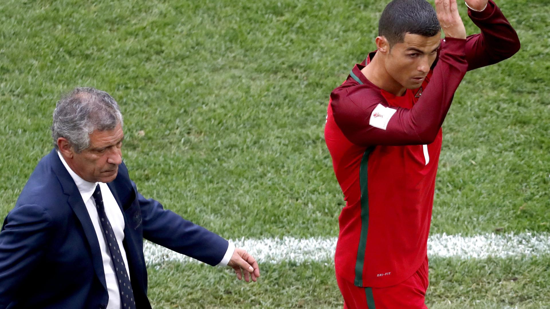Fernando Santos destaca contributo de Ronaldo na seleção