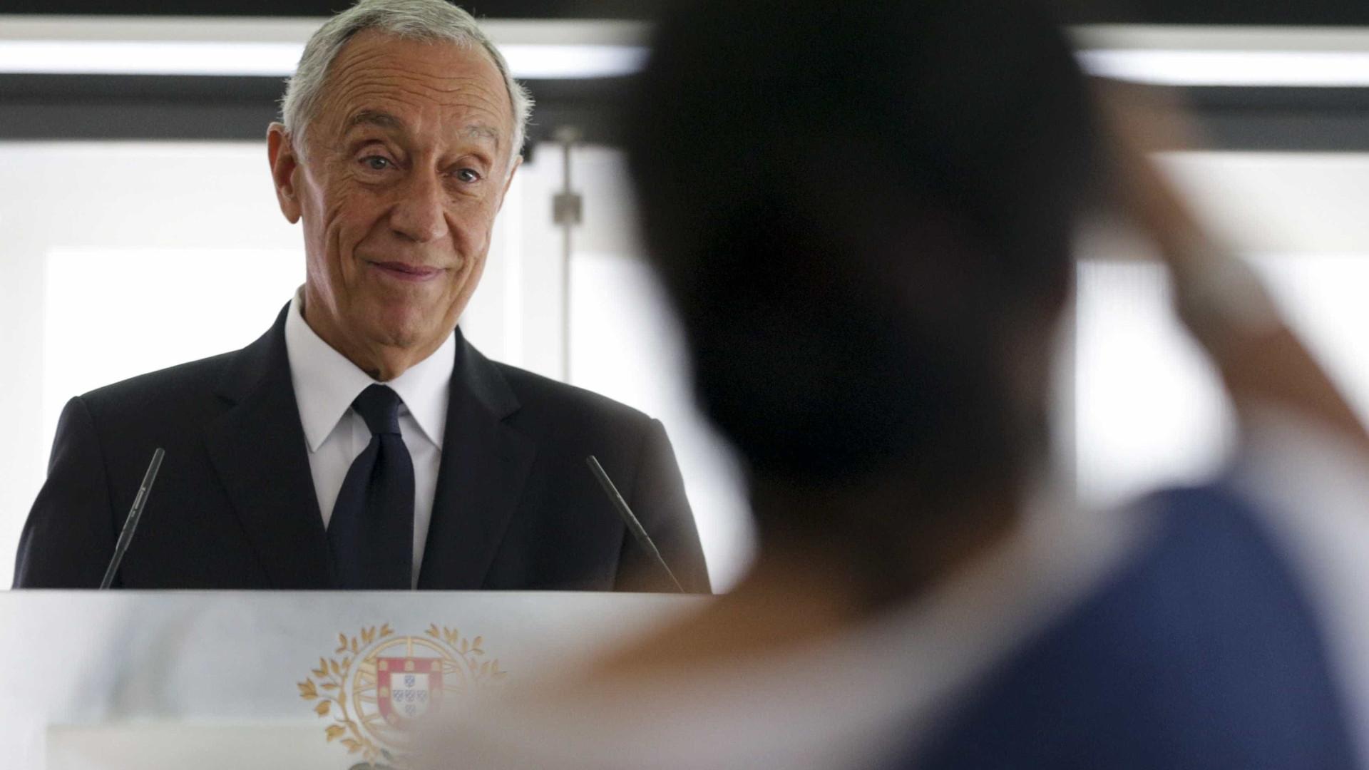 """Marcelo felicita """"notável prestação"""" de Inês Henriques"""