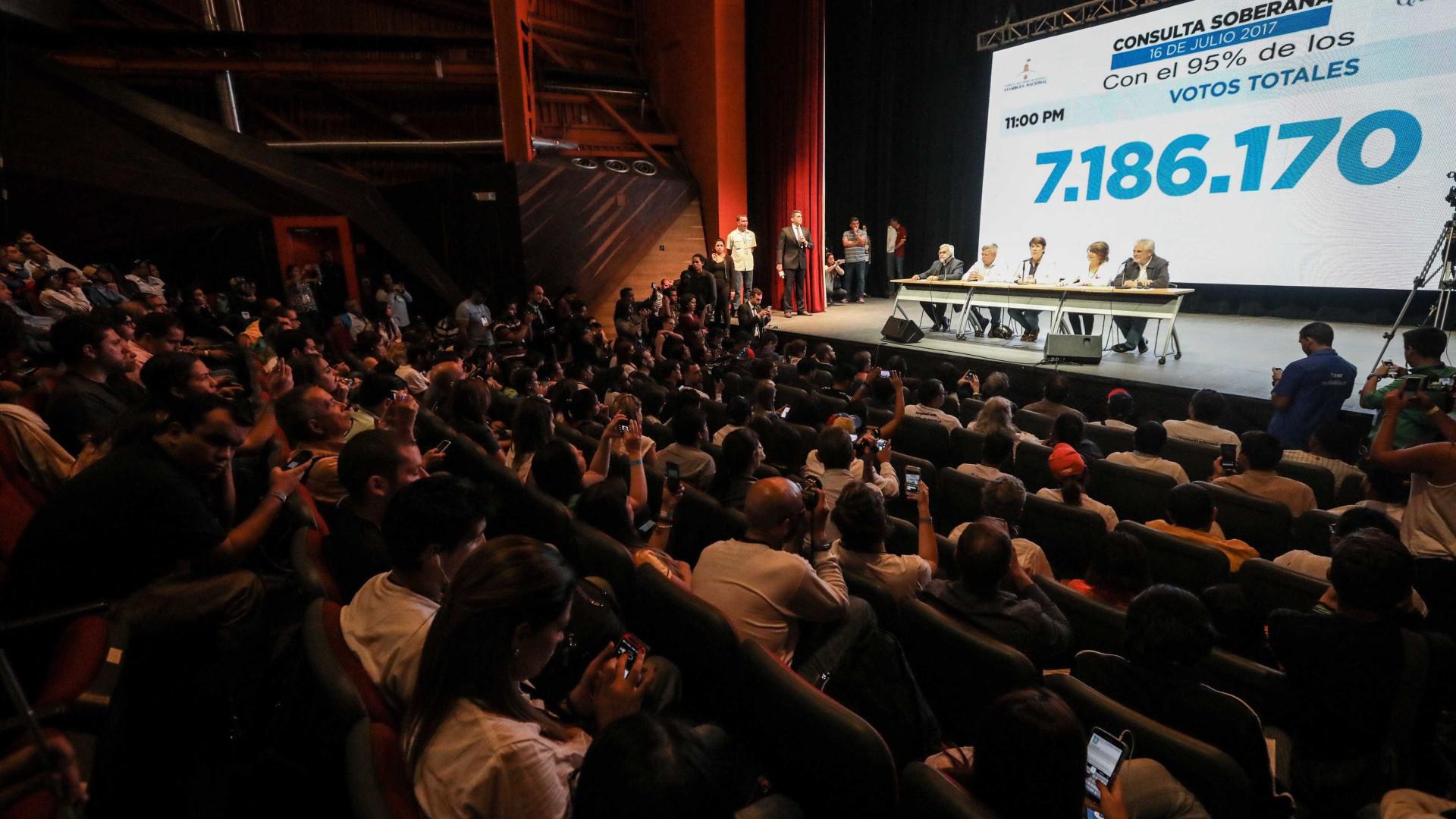 Mais de 7,1 milhões votam em consulta simbólica contra projeto de Maduro