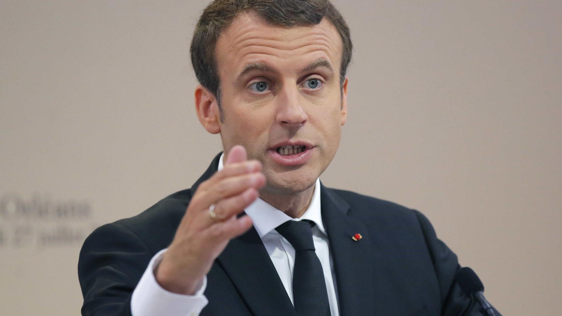 """Macron pede que se evite """"escalada de tensões"""" no caso da Coreia do Norte"""