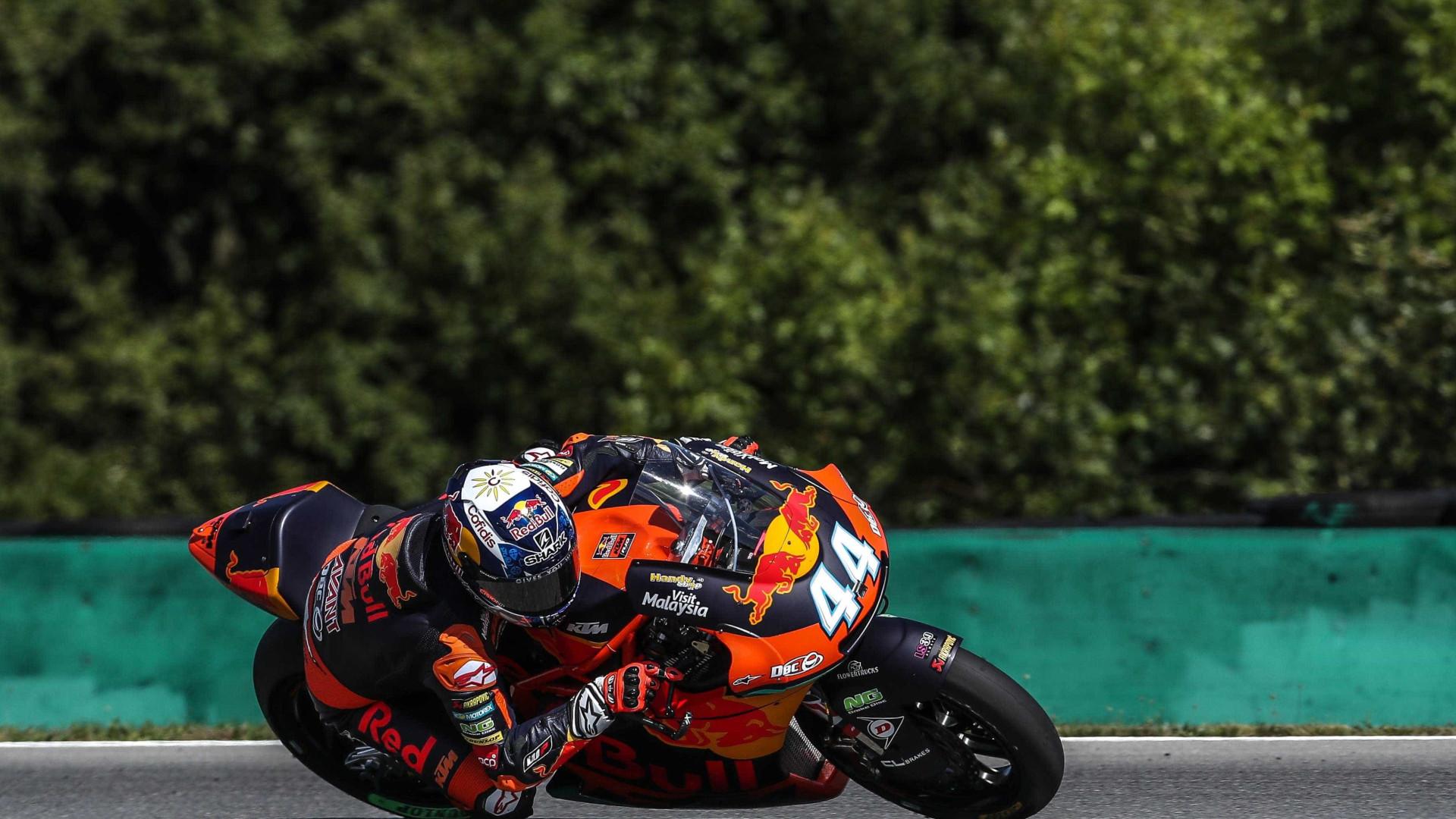 Miguel Oliveira despista-se e abandona GP da Áustria, Morbidelli vence