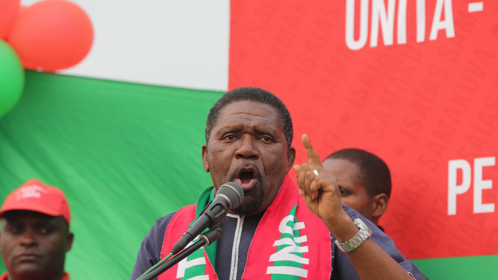 """UNITA admite convocar manifestação contra """"violações da lei eleitoral"""""""