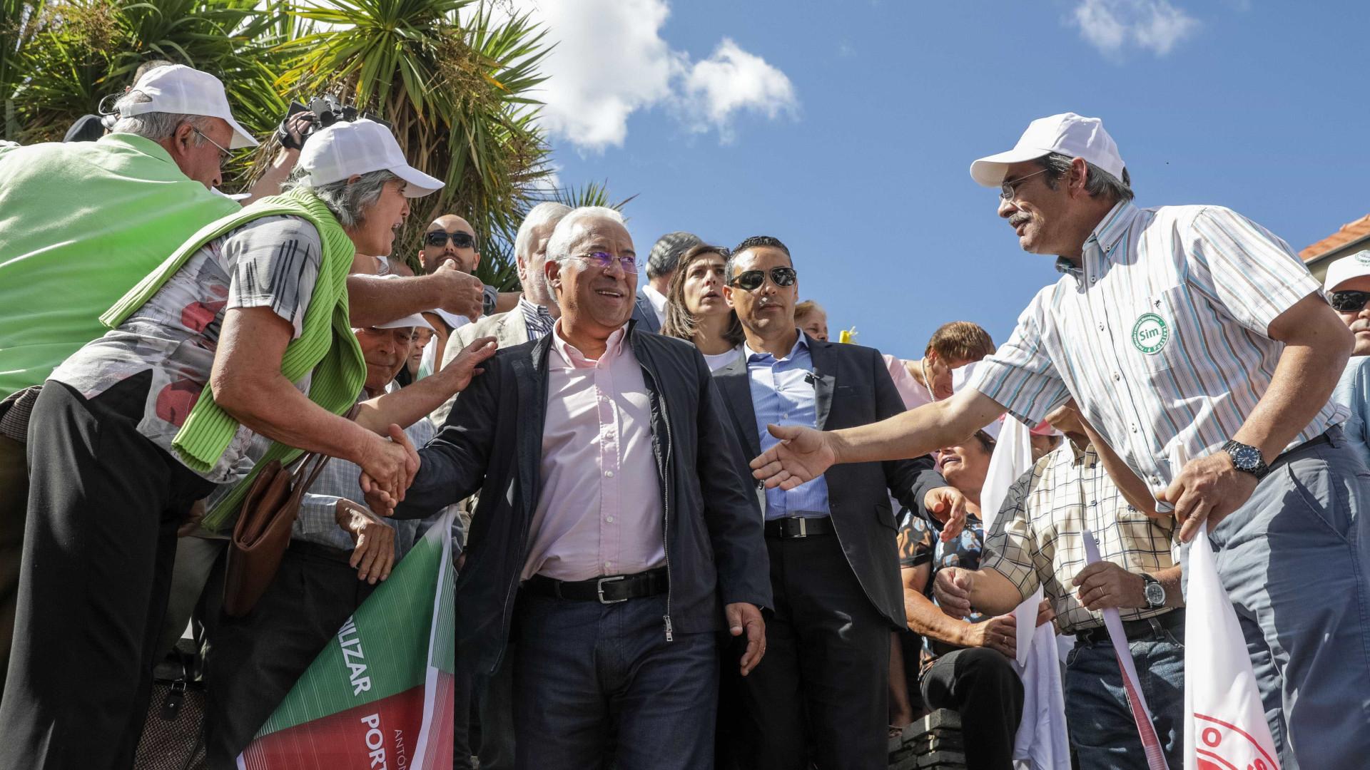 Costa diz que PS vai disputar vitória em todas as freguesias e concelhos