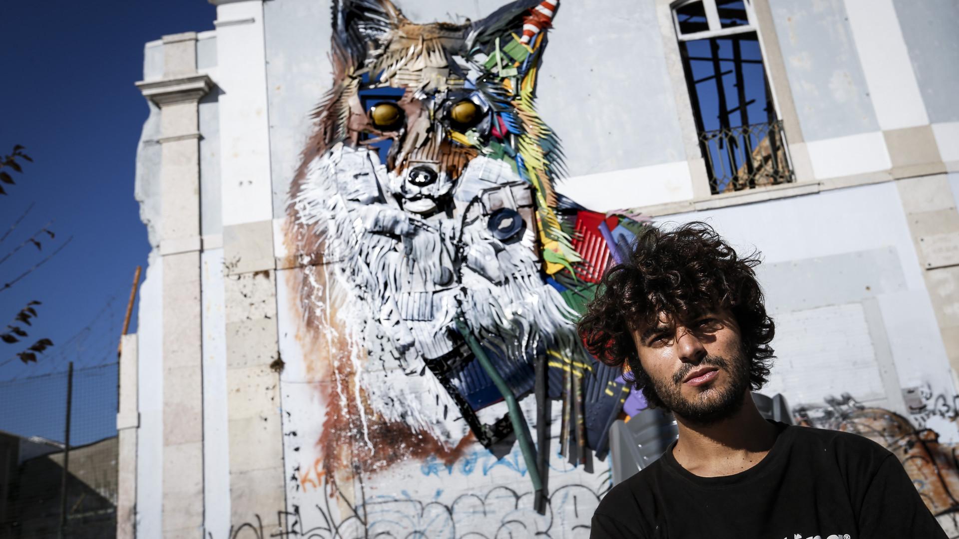 Bordalo II leva arte feita com lixo e desperdícios à Califórnia