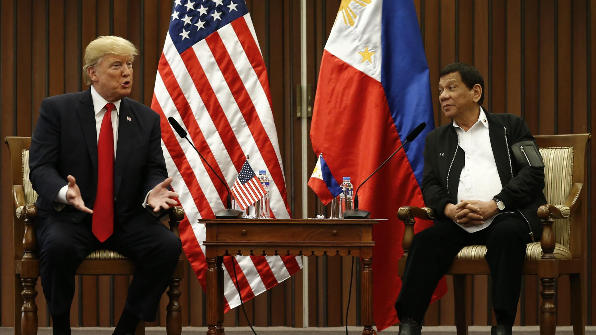 Guerra antidroga: Trump e Duterte acordam respeitar direitos humanos