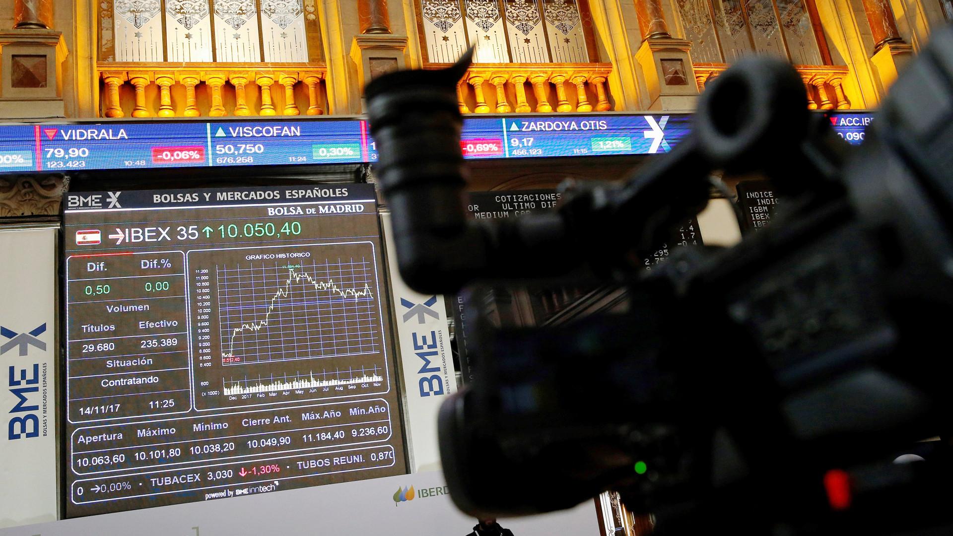 Bolsas europeias seguem negativas