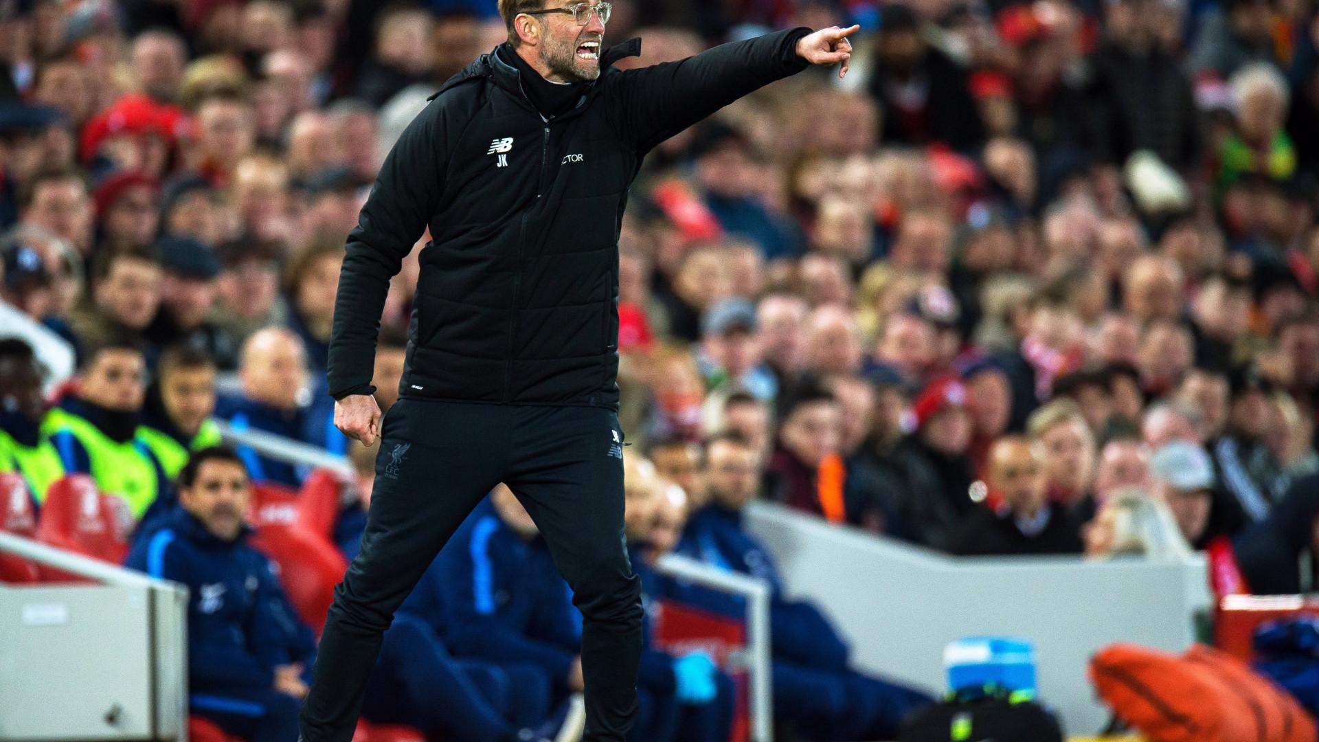 Liverpool segue para o Porto com lista alargada de jogadores