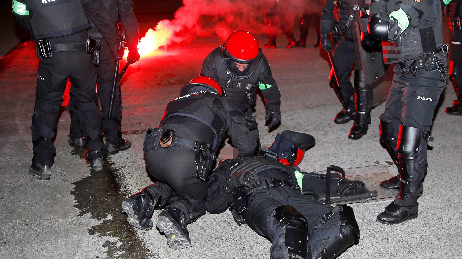 Polícia morre na sequência de uma rixa entre adeptos do Bilbao e Spartak