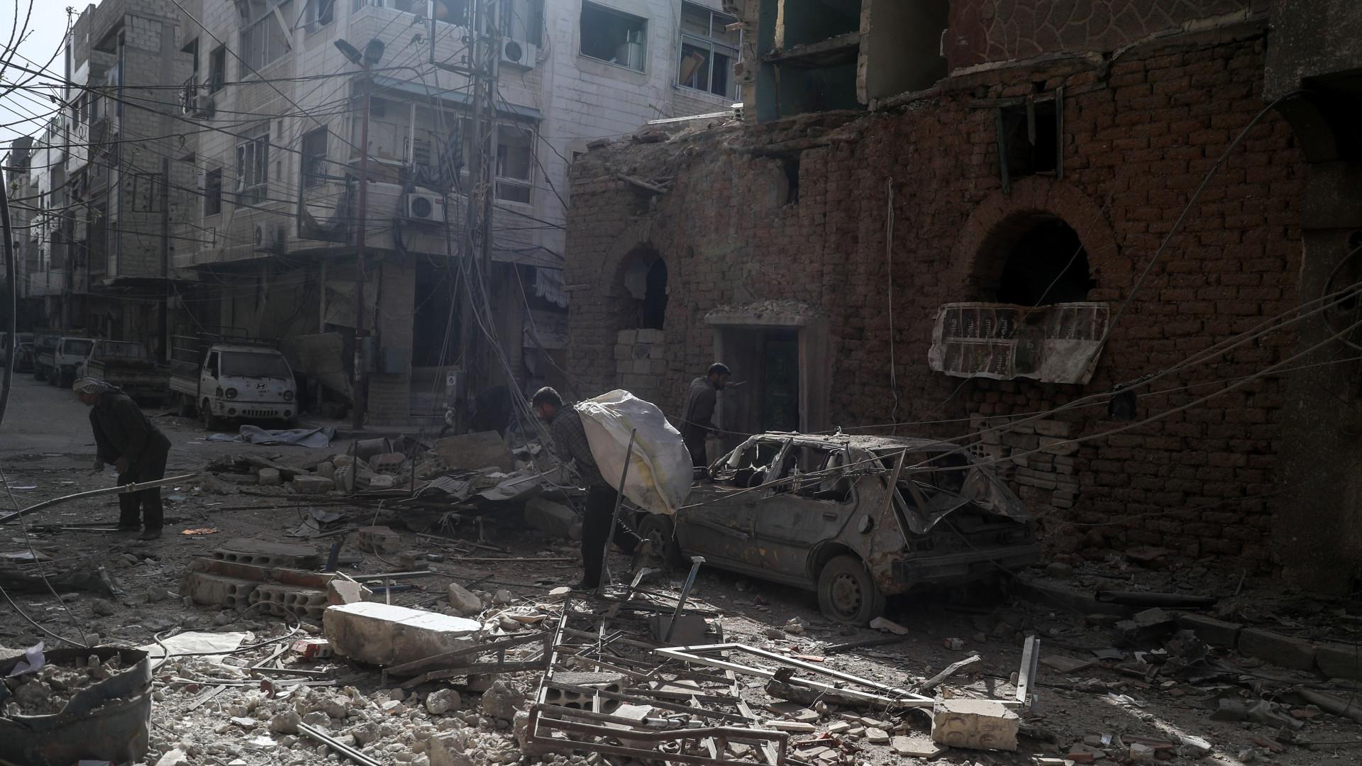 Grupo rebelde em Ghouta oriental anuncia cessar-fogo para negociações