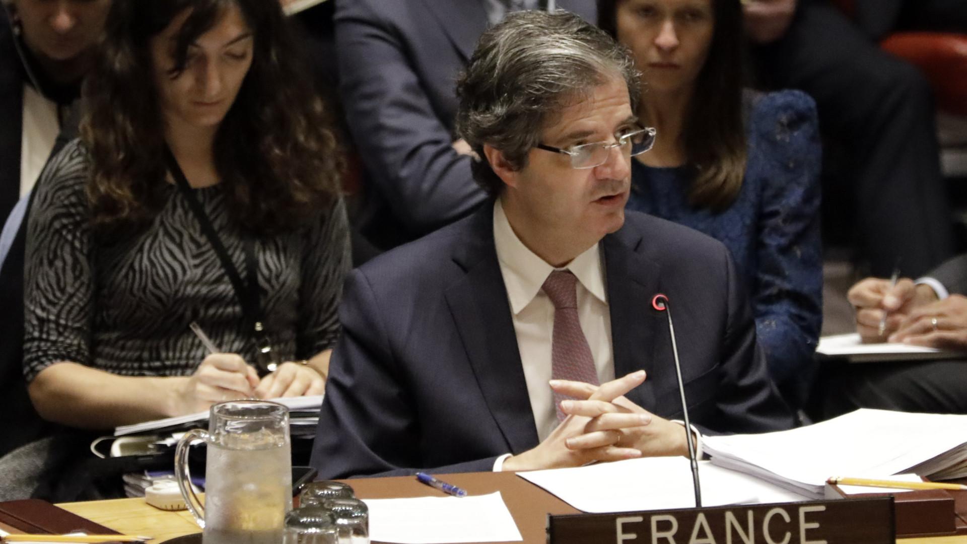 """França insta parceiros do Conselho de Segurança a negociações """"de boa-fé"""""""