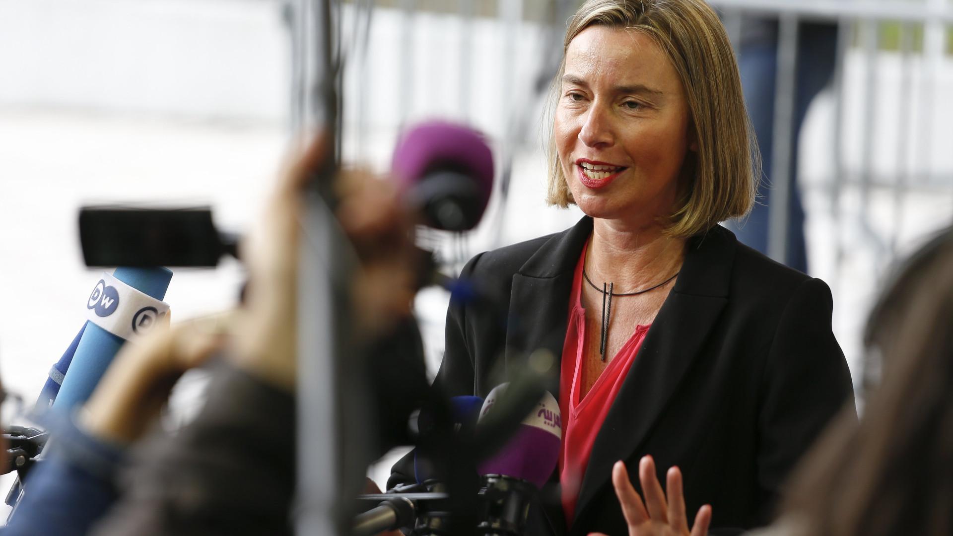 Chefe da diplomacia da UE descarta sanções adicionais ao Irão