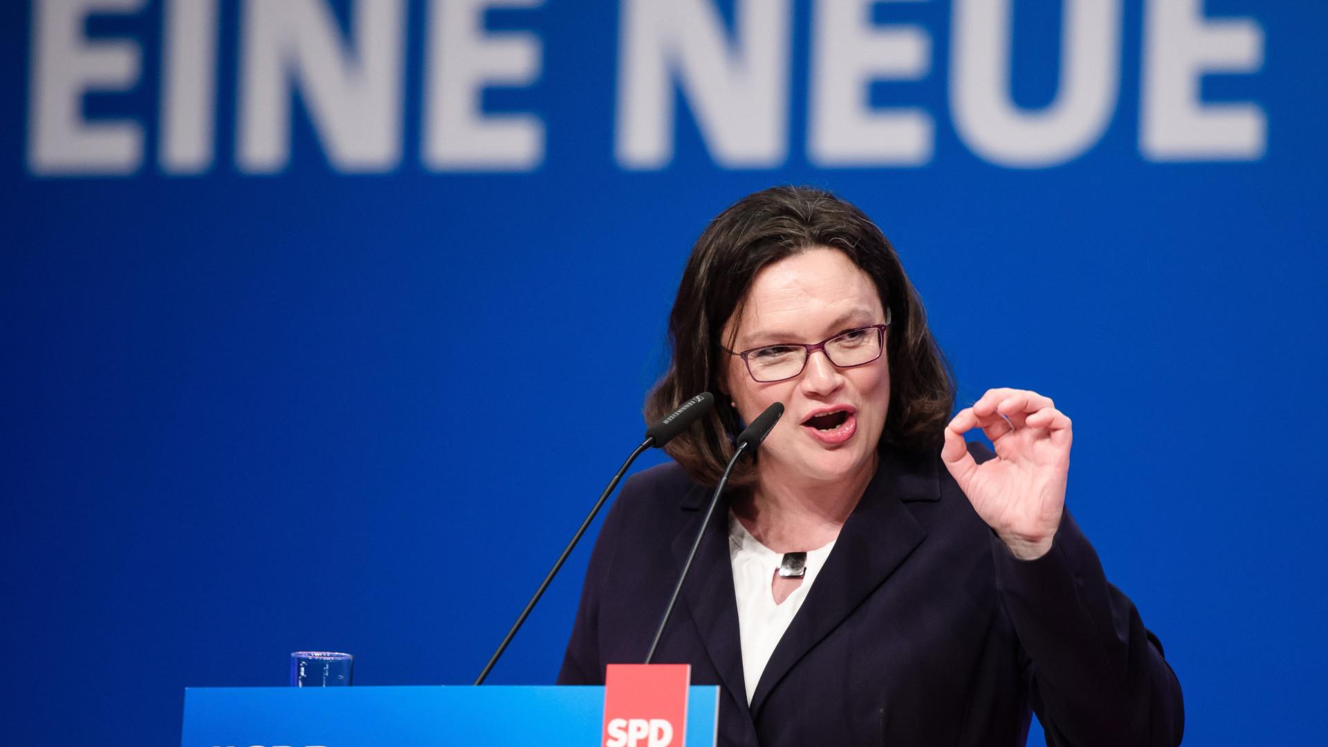 Partido Social-Democrata alemão elege primeira líder mulher