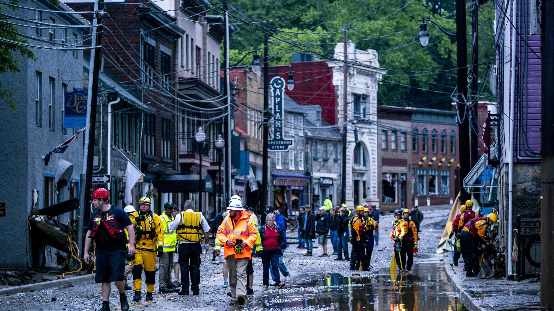Estado de emergência em Maryland devido a inundações