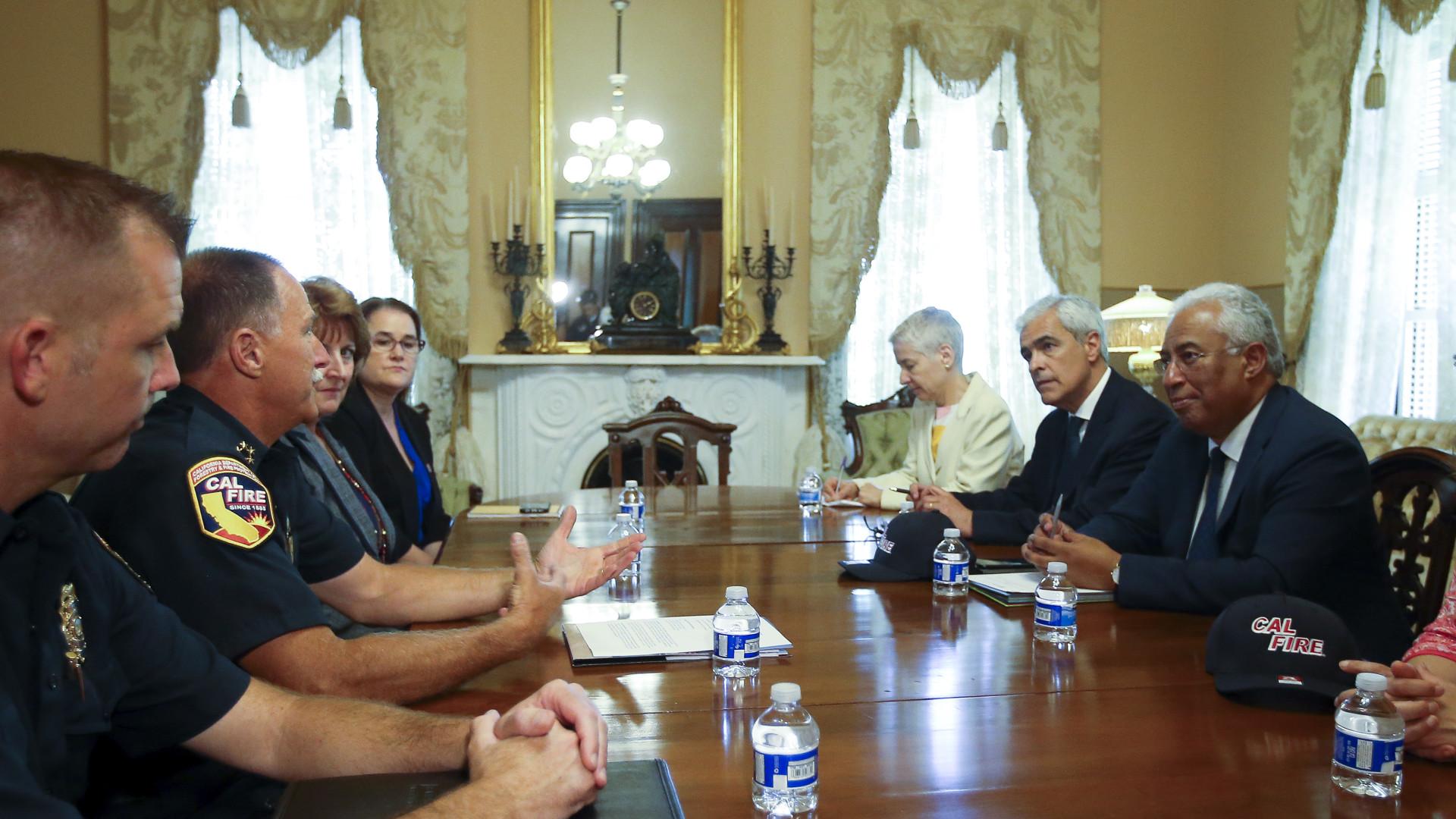 Costa quer acelerar cooperação com Califórnia no combate aos fogos