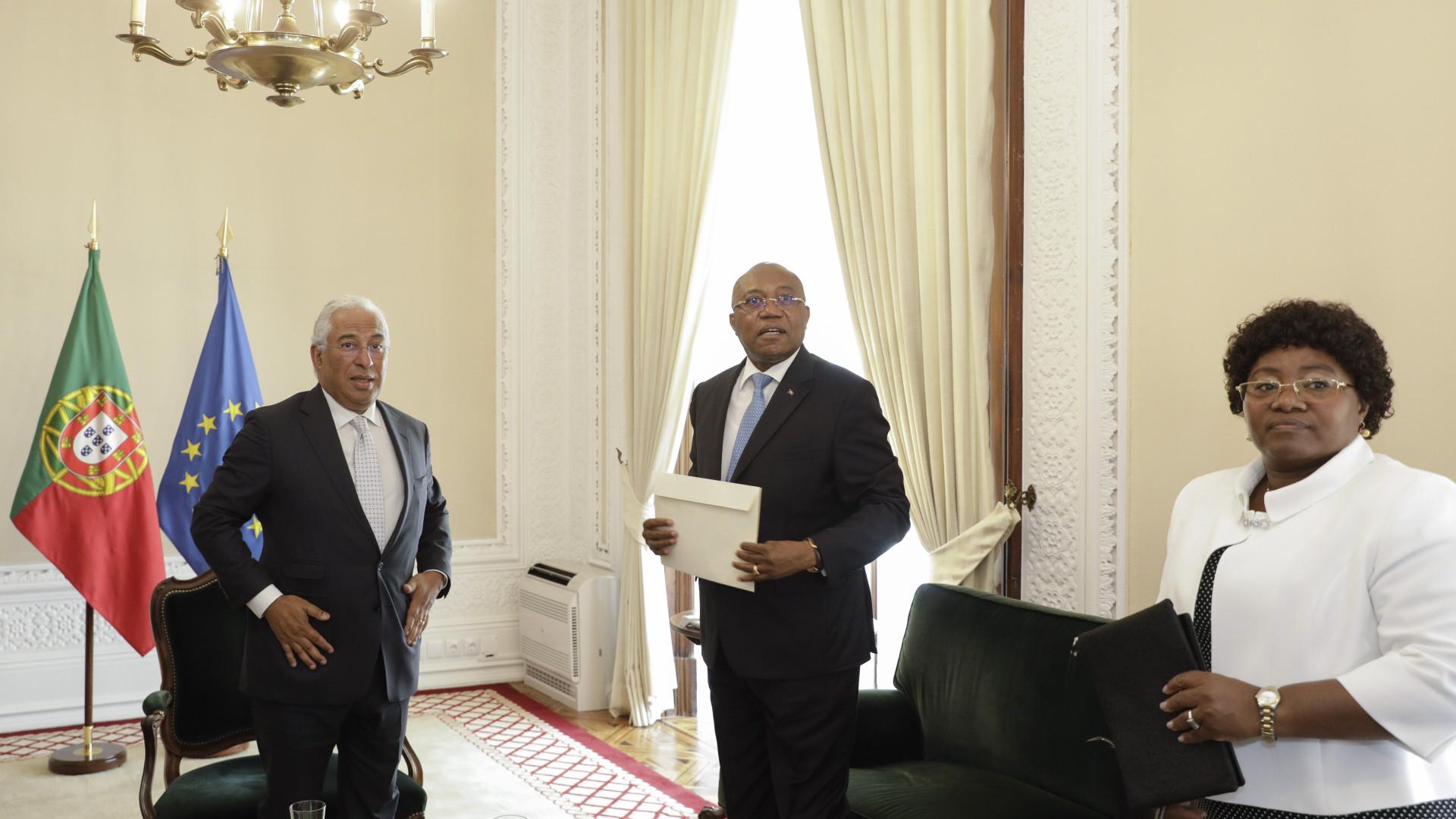 """Costa recebe carta do Presidente angolano como """"sinal das boas relações"""""""