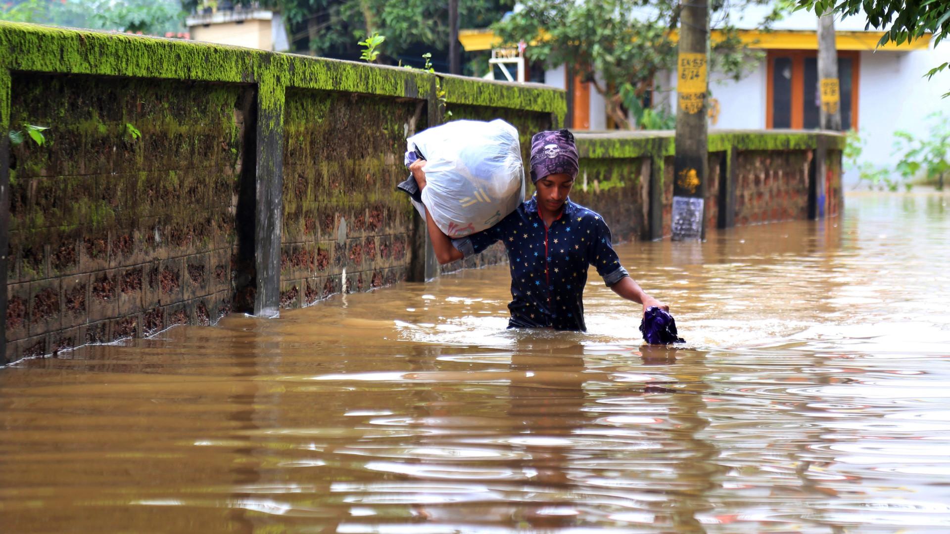 Monções no sul da Índia causam 37 mortos e 37 mil desalojados