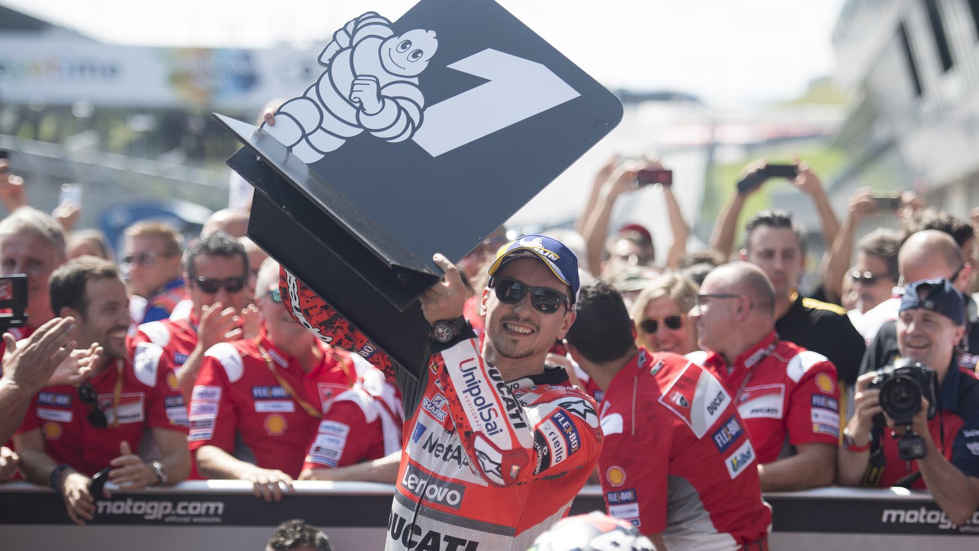 Jorge Lorenzo vence na Áustria e Márquez reforça liderança do mundial