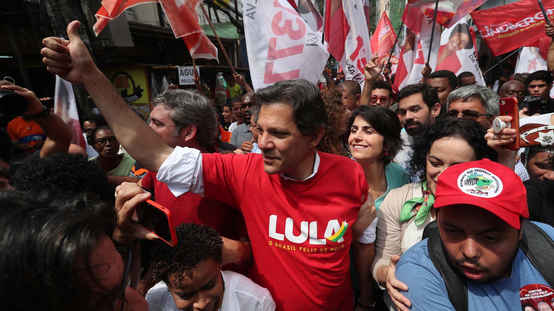 Brasil: Fernando Haddad e Jair Bolsonaro sobem nas sondagens