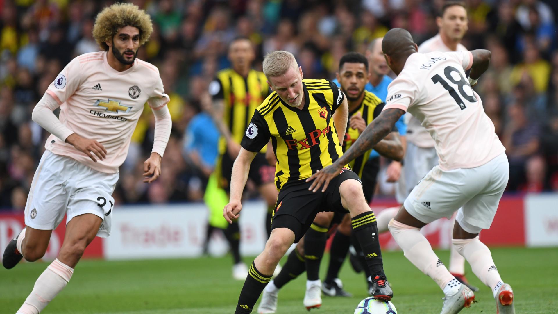 Man. United vence 2-1 em casa do Watford. Liverpool e Chelsea líderes
